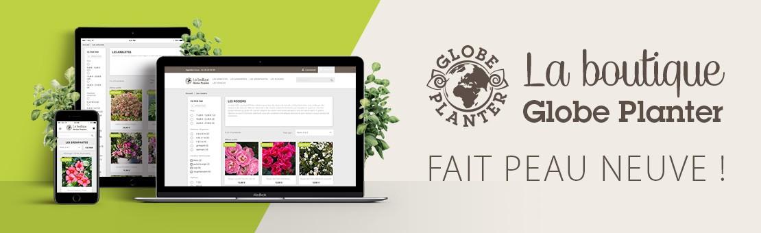 La boutique Globe planter fait peau neuve.